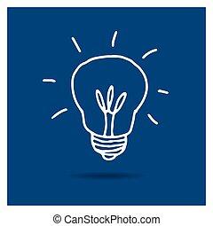 אור, וקטור, נורת חשמל, איקון