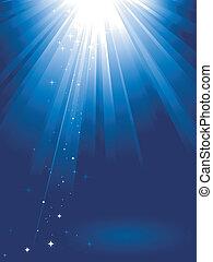אור כחול, כוכבים, התפוצץ