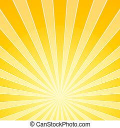 אור, מואר, צהוב, קורות