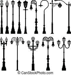 אור, מנורה, רחוב, עמדה פנס-רחוב, פרסם