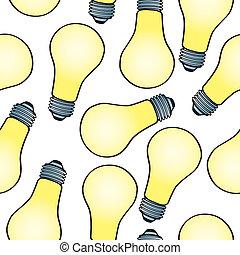 אור, ציור היתולי, seamless, נורת חשמל, תבנית