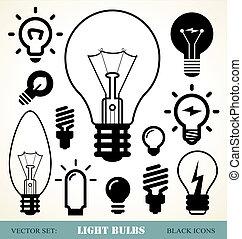 אור, קבע, נורות חשמל
