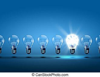 אור, שיט, נורות חשמל
