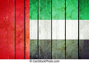 אחד, גראנג, מעץ, flag., ערבי, אמירויות