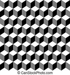 איזומטרי, קוביות, תבנית, סיגנון, seamless, ממפיס