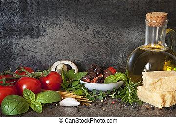 איטלקי, רקע, אוכל