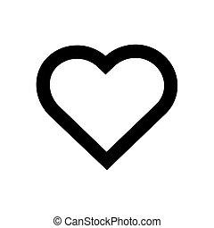 איקון, הפרד, כמו, לבן, תאר, לב, רקע