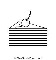 איקון, עוגה, סיגנון, דובדבנים, תאר
