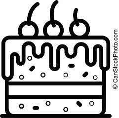 איקון, עוגה, סיגנון, תאר, דובדבנים