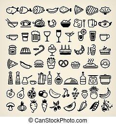 איקונים, אוכל
