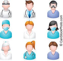 איקונים, אנשים, -, רפואי