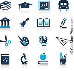 איקונים, כחול, סידרה, //, חינוך