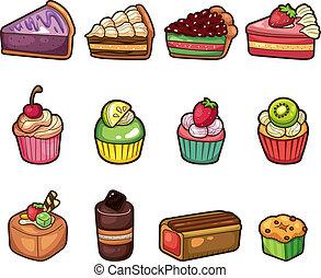 איקונים, ציור היתולי, קבע, עוגה