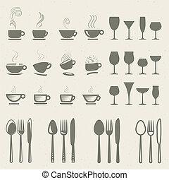 איקונים, קבע, אוכל, שתה