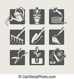 איקונים, קבע, גן, tools.