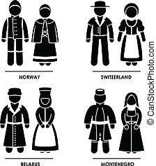 אירופה, בגדים, תלבושת