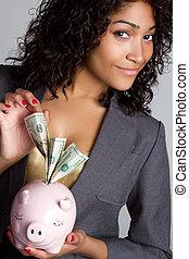 אישה, בנק של חזרזיר