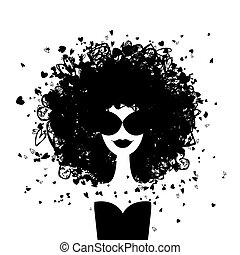 אישה, עצב, שלך, דמות, עצב