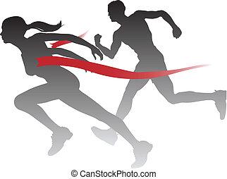 אישה, רוץ, לנצח