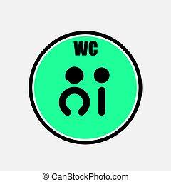 אישה, שחור, חדר מנוחה, icon., דפן, symbols., איש, שרותים, דלת, וקטור, ו.ו.כ., illustration., מצחיק, צללית