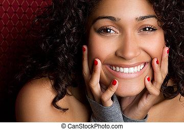 אישה, שחור, לצחוק