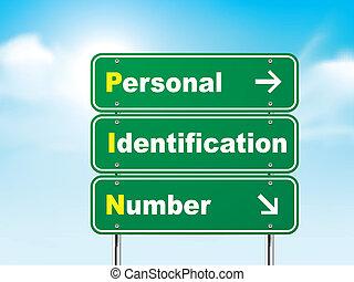 אישי, מספר סימן, זהוי, דרך, 3d