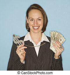 אישת עסקים, כסף.