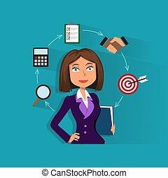 אישת עסקים, מסמכים