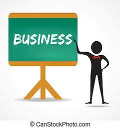 איש, נקודות, מילה, עסק