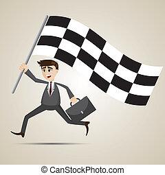 איש עסקים, דגלל, לרוץ, ציור היתולי