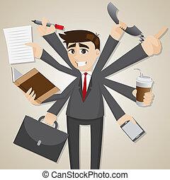 איש עסקים, כפולי, ציור היתולי, tasking