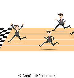 איש עסקים, לרוץ, ציור היתולי