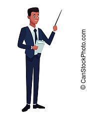 איש עסקים, מנהל, ציור היתולי