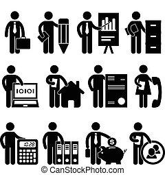 איש עסקים, מתכנת, עבודה, עורך דין