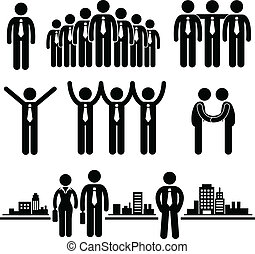 איש עסקים, עובד, עסק, קבץ