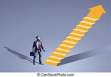 איש עסקים, צוארון, דימיוני, כחול, עמוד, דוגמה, סולם, מושג, חזית