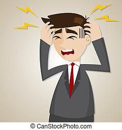 איש עסקים, ציור היתולי, כאב ראש