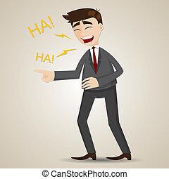 איש עסקים, ציור היתולי, לצחוק