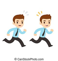 איש עסקים רץ, ציור היתולי