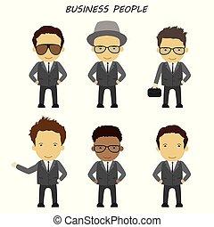 איש, ציור היתולי, מירוצים, קבע, שונה, עסק