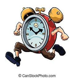 איש רץ, שעון