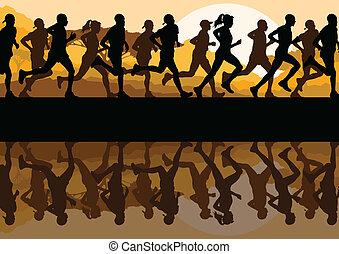 איש, רצים של מרתון, נשים