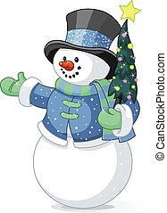 איש שלג, עץ של חג ההמולד