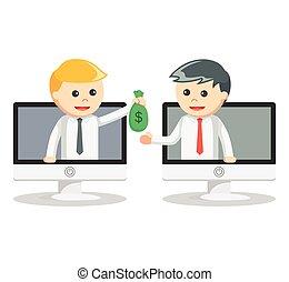 איש של כסף, העבר, עסק, אונליין