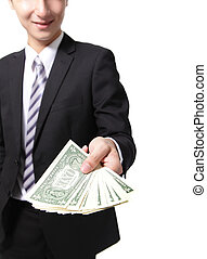 איש של כסף, עסק, להחזיק יד