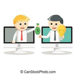 איש של עסק, רעיון, לקנות אונליין