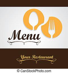 אלגנטי, מסעדה, כרטיס, תפריט