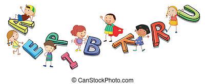 אלפביתים, ילדים, לשחק