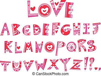 אלפבית, אהוב
