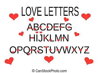 אלפבית, אהוב, שחור